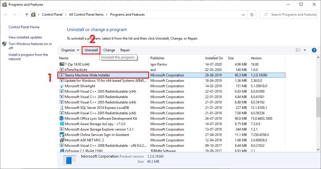 Uninstall Microsoft Teams Completely