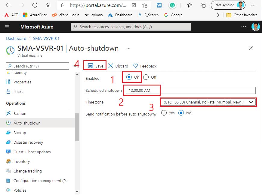 How to Auto shutdown Azure Virtual machine