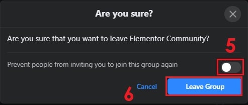 How to Leave Facebook Group on Desktop