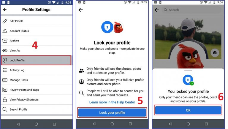 How to Lock your Facebook profile on iPhone