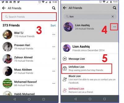 How to unfollow on Facebook on Android & iOS 01